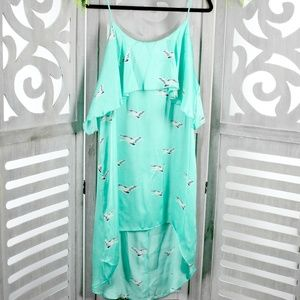 Spring Easter Mint High-low  Dress NEW